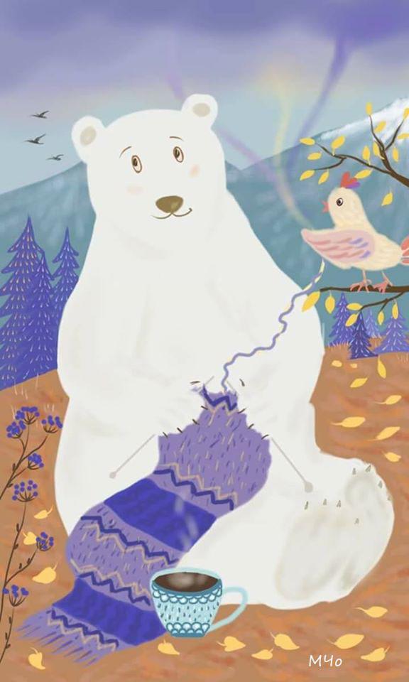 Bear knitting