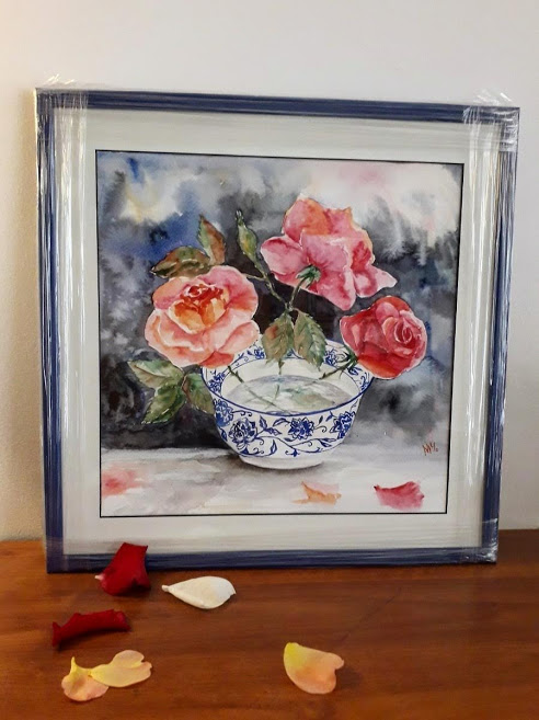 Roses in a bowl (FRM)
