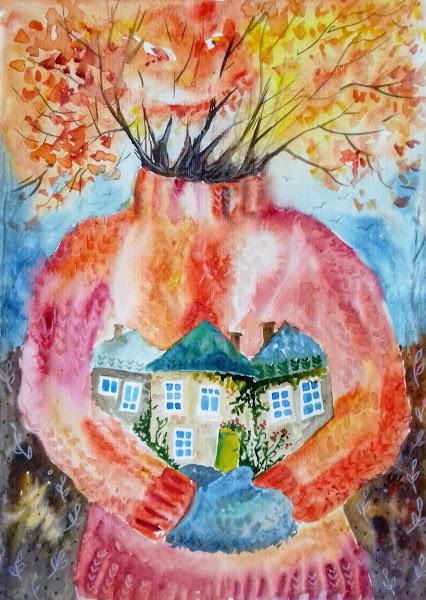 В мохерната прегръдка на есента