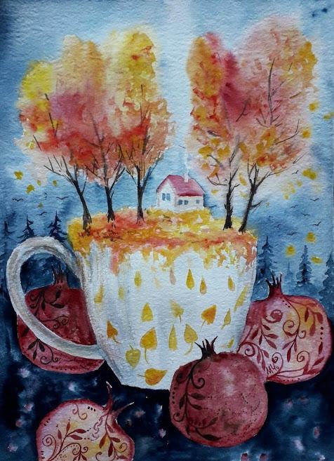 Топла чаша есен