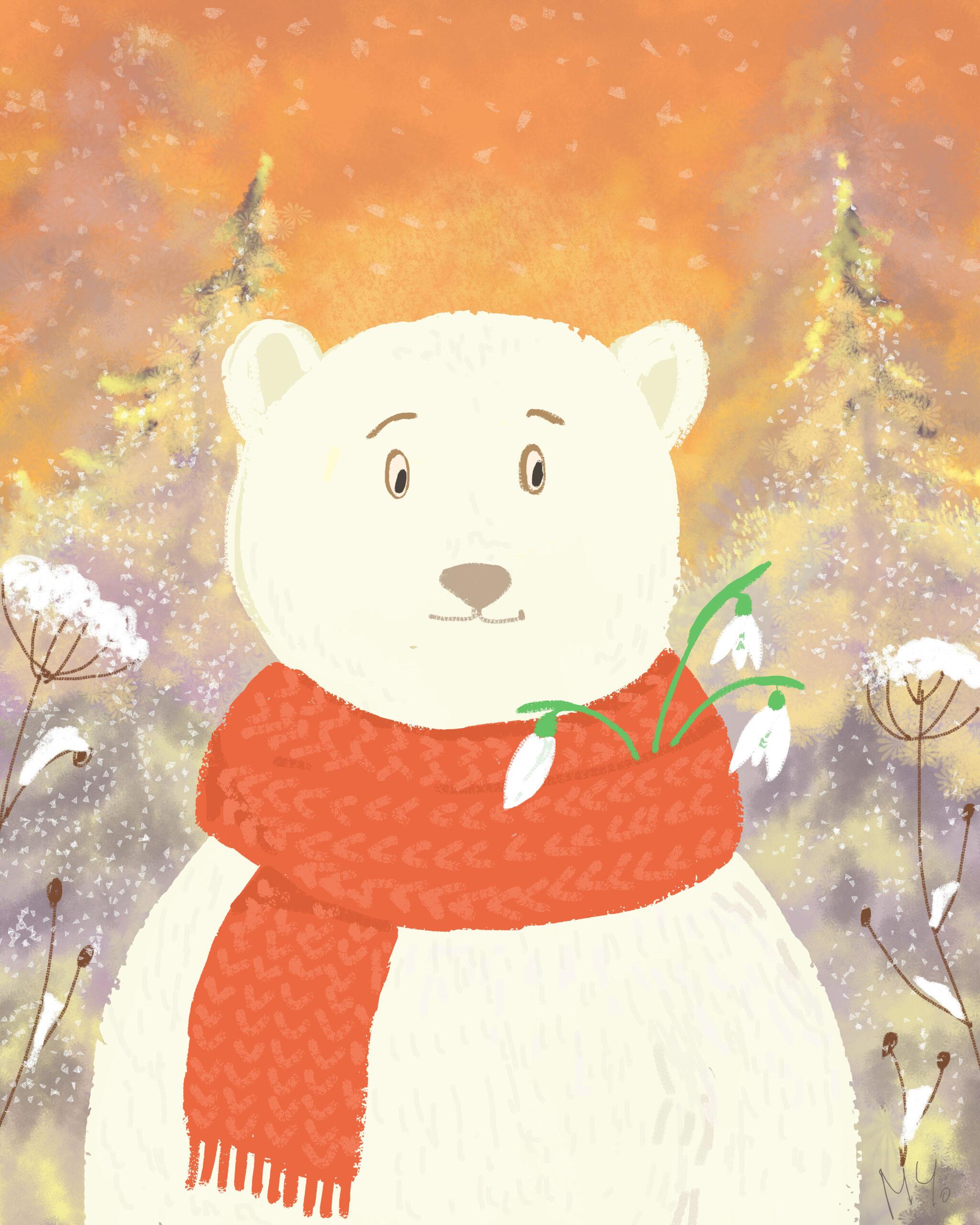 Snowdrop brooch - Milena Cholakova