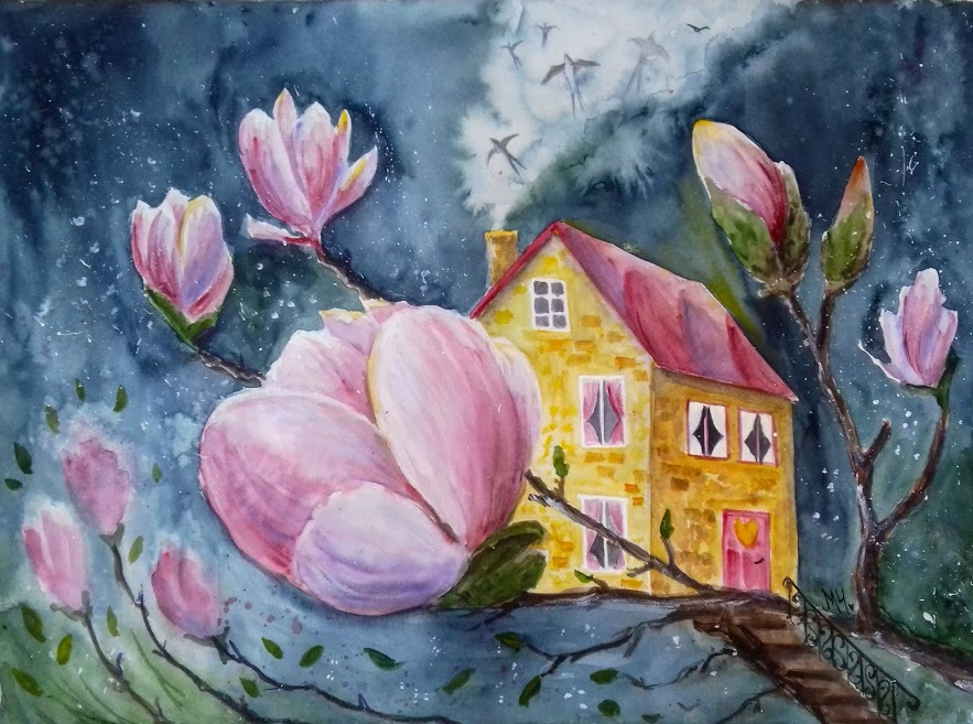 The house with the magnolia tree - Milena Cholakova