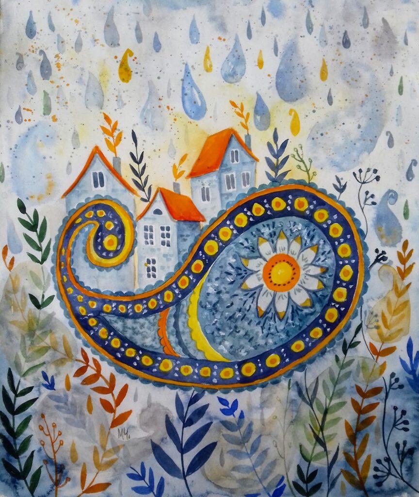 Colourful spring rain - Milena Cholakova